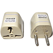 Universal Electricity Travel EU Adapter 2 PIN Plug to Universal Outlet Converter