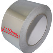 Aluminium Foil Tape 100mm*40m Roll Ideal For Heat Reflection