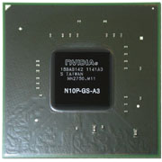 N10P-GS-A3 GPU NVIDIA GeForce GT240M