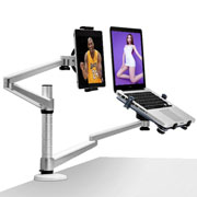 Telescopic Foldable Two Arms Tablet PC Stand 2 in 1 360 Rotating Laptop For IPAD stand/mount