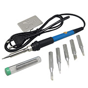 110V 60W Simple metal Soldering iron Stand bracket + Solder wire + 5pcs Soldering Iron head