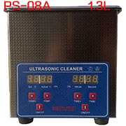 PS-08A Digital Ultrasonic Cleaner Stainless Steel Heater Timer Industrial Grade 1.3L