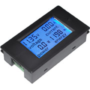 4 in 1 Multifunction DC 6.5~100V 20A LCD Display Voltage Current KWh Watt Panel