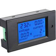 4 in 1 Multifunction DC 80~260V 20A LCD Display Voltage Current KWh Watt Panel