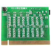 Motherboard PCI-E Test Card Tester PCI Express 16X Slot Test Card with LED Indicator