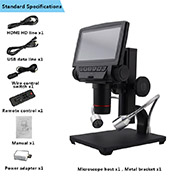 Andonstar ADSM301 5Inch Screen HDMI/AV remote control long object distance digital microscope