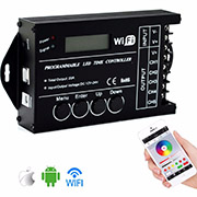TC421 DC12-24V new WIFI connect time programmable controller with 5CH for LEDs