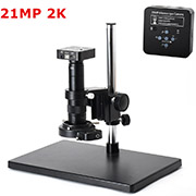 HAYEAR 21MP 1080P 60FPS 2K HDMI Electron Microscope Set USB Digital Industry Video Microscope Camera 180X 300X